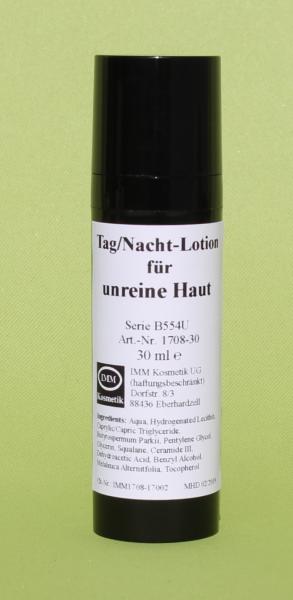 Tag/Nacht-Lotion für unreine Haut