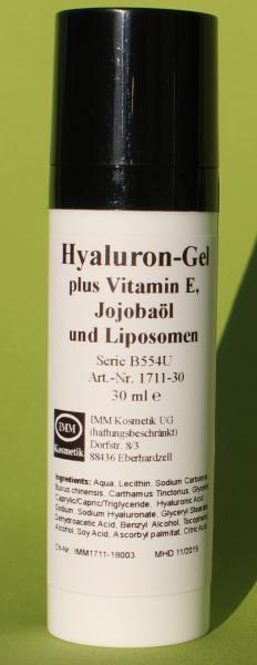 Hyaluron-Gel plus Vitamin E, Jojobaöl und Liposomen
